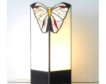 Lamp Butterfly. Tiffany table lamp. Stained glass lamp. Handmade lamp. Glass art.