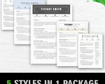 Modern Resume Template | Professional Resume Template for Word | 1, 2 and 3 Page Resume Template, Cover Letter | Instant Download