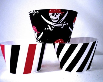 Pirate Party Instant download Printable Cupcake Wrappers