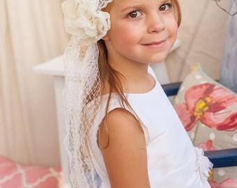 First Communion Headband Veil