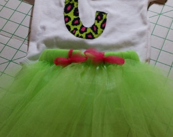 Initial on Onesie with matching tutu.
