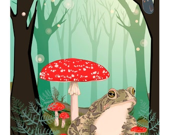 A2- SINGLE Toad and Toadstools