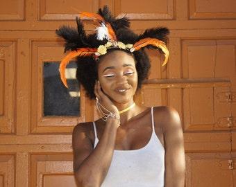 Sunset - Feather Headpiece