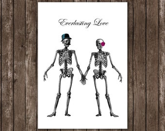 i'll love you forever, till death do us part, poster art print 8x10