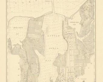 Little Sodus Bay - Lake Ontario Historical Map 1926