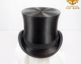 Stunning Extra Large Silk Top Hat, Size 7 3/8 | 60