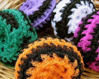 Set of 5- Halloween Swirl Scrubbies