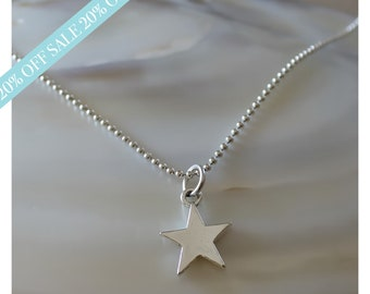 sterling silver star necklace • star charm necklace • everyday necklace • dainty star necklace • beaucoup de beads • B173