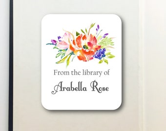 Ex Libris- Bookplates- Bookplate Stickers- Peel and Stick Bookplate