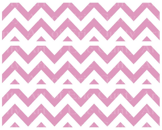 Pink Chevron Birthday - Edible Cake Side Toppers- Decorate The Sides of Your Cake! - D22934