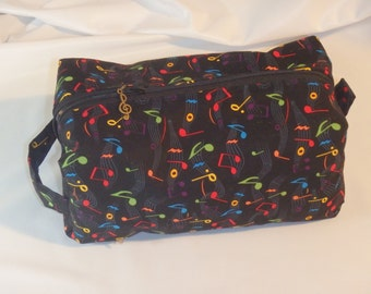 Music Bag, Toiletry Kit, Go Bag, Cosmetics Clutch, Music Lover Gifts, Toiletry Bag, Pencil Case, Dopp Kit, Snack Bag, Choose Size & Style