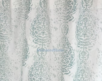 extra wide shower curtain for clawfoot tub. Shower Curtain Manchester Pale Aqua Snowy White 72x 84 108 Fabric Shower  Curtain Long Long Etsy