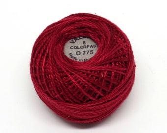 Valdani Pearl Cotton Thread Size 8 Variegated: #O775 Turkey Red