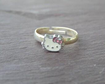 Cute Little Hello Kitty Ring