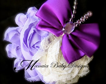 Lavender and Purple Butterfly Hair Clip
