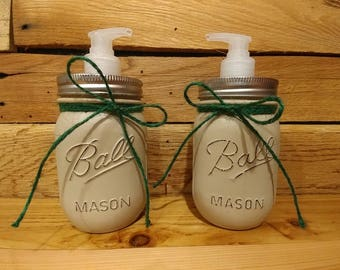 Mason Jar Soap & Lotion Bathroom Set