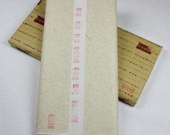 Free Shipping Chinese Calligraphy Material 69x138cm Raw Unsized Xuan Paper Rice - Clean Bark Specialties - 100 Sheets 0005R