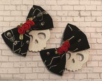 Rose Skull Magnets