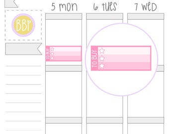 Multicolour To Buy Checklists   Planner Stickers   037