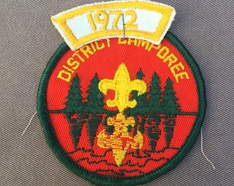 1972 Boy Scouts of America District Camporee -  Sam Houston Council Boy Scout Patches