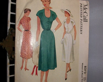Vintage 1950s Dress McCalls Pattern