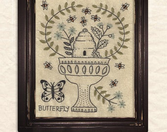 A Joyful Journey - New Stitchery pattern by Kathy Schmitz - May - Butterfly