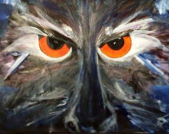 "Title (Incensed) Original Art, 16""x24""x1"""" Acrylic&Oil on Cotton Duck Cloth"