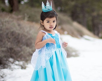 Elsa dress, princess  dress, Frozen dress, Anna dress, summer princess dress, vacation princess dress, comfortable princess dress