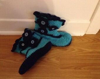 Slipper flower style boot