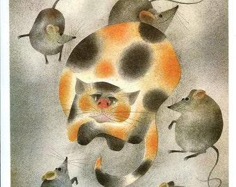 Cat and mice  -  Nursery Decor - Ota Janeček