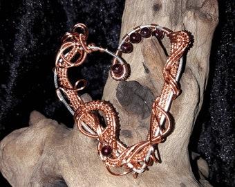 Beautifully handcrafted Garnet Heart