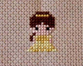 Princess Belle Cross Stitch Pixel Mini
