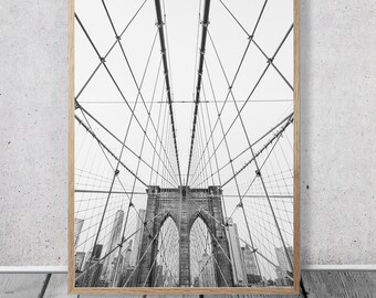 New York, Digital Download, Wall Decor, Wall Art, Digital Prints, Black and White, Photography, Large Wall Art, Gift for Men
