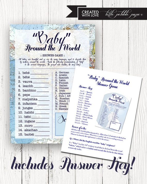 Welcome to the world baby shower game baby in the languages welcome to the world baby shower game baby in the languages of the world map welcome to world baby shower theme baby shower games gumiabroncs Images