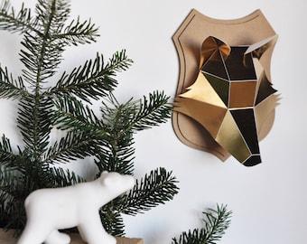Paper - Fox head - gold trophy