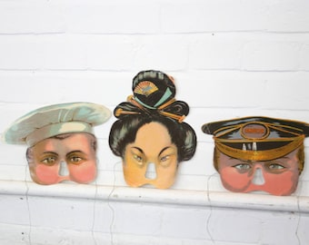 German Children's Play Masks Circa 1910