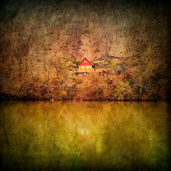 Landscape photography, Cabin decor, Autumn Photography, Enchanted forest, Yellow and mustard decor, Geometric, Triangle