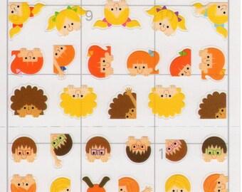 Japan Mind Wave kawaii CHILDRENS FACE schedule sticker sheet/72955