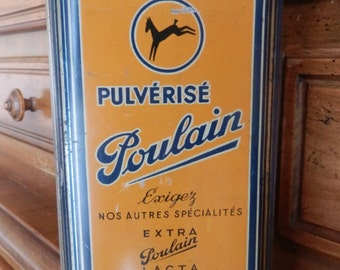 French metal box chocolate