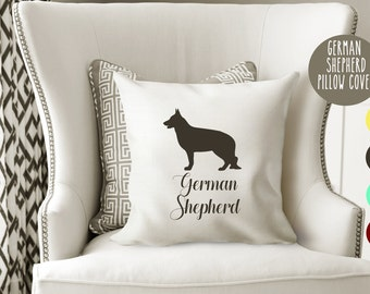 Personalized German Shepherd Pillow Cover