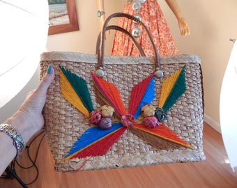 mexican straw bag