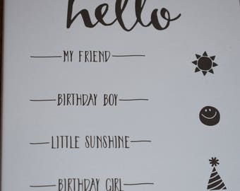 Stampin' Up! Hello Clear-mount Stamp Set (retired)