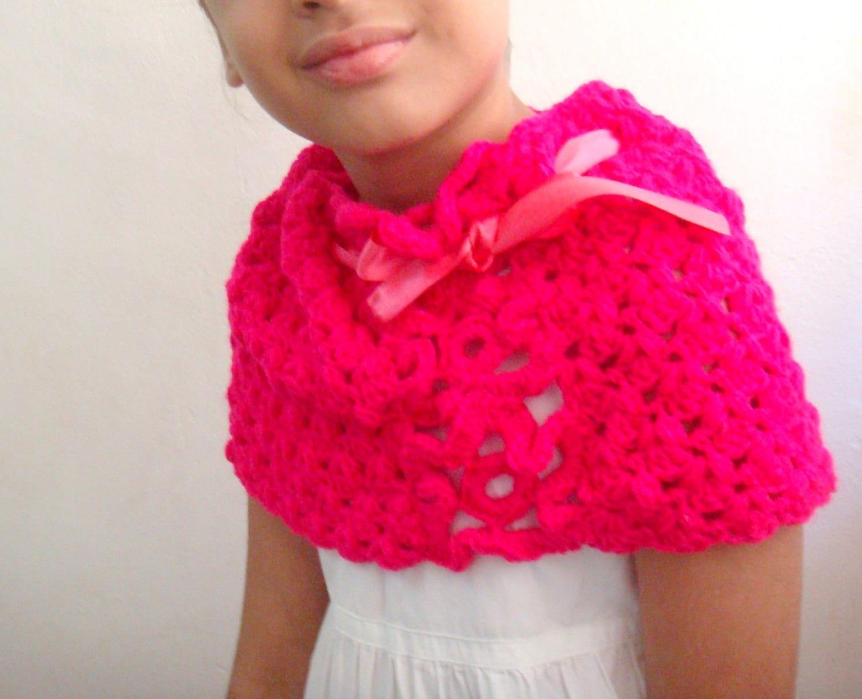Pattern Crochet Capelet, Crochet Cowl Pattern, Infinity Scarf ...