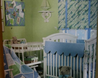 Butterick B4947 Retired Infants Room Decor Sewing Pattern New/Uncut