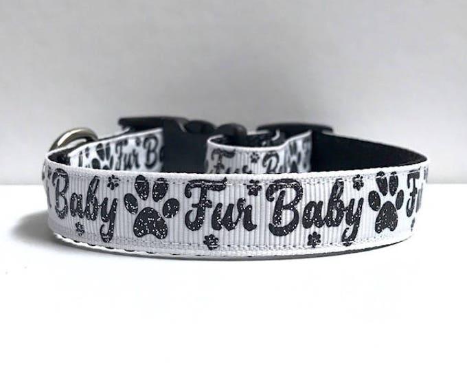 """5/8"""" Fur Baby on White Collar"""