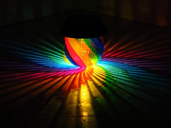 Rainbow Painted Table Solar Light/Outdoor Lamp/Hurricane