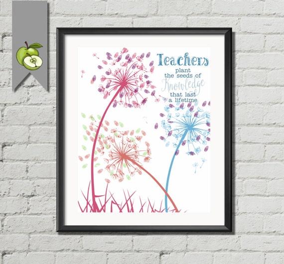 Quotes About Teachers Planting Seeds: Dandelion Teacher Appreciation Gift Teachers Plant The Seeds