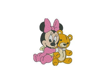 Minnie mouse embroidery design - Machine Embroidery Design - Instant donwload