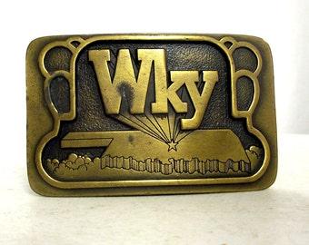 Vintage WKY 930 AM Radio Station Oklahoma Belt Buckle - limited edition 1977