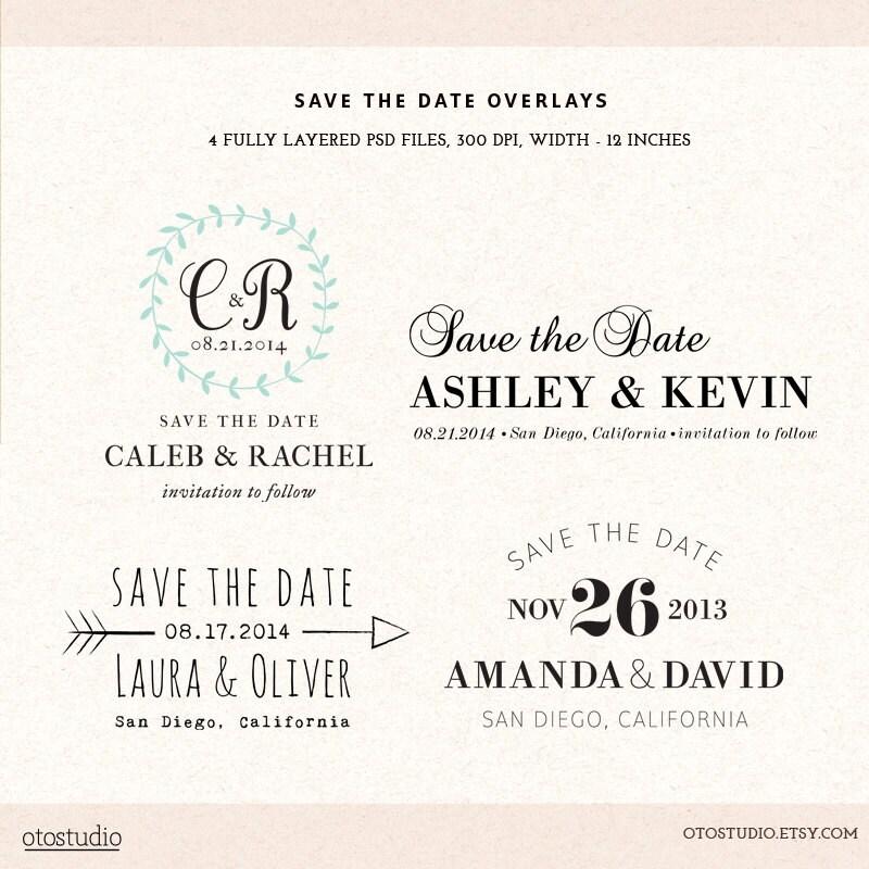 Digital save the date template overlays wedding photoshop zoom maxwellsz